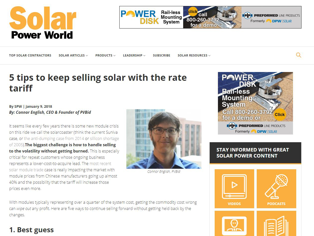 Solar Power World: 5 tips to keep selling solar with the rate tariff